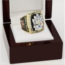 2005 Pittsburgh Steelers NFL Super Bowl Championship Ring 13 size with cherry wooden case