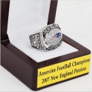 2007 New England Patriots AFC Championship Ring Size 12 With High Quality Wooden Box