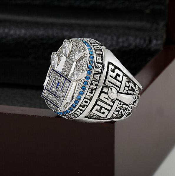 2011 New York Giants  Super Bowl Football Championship Ring Size 12  With High Quality Wooden Box