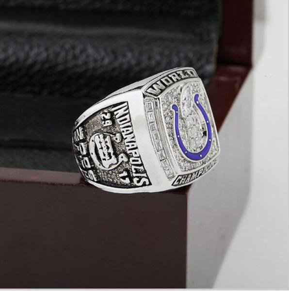 2006 Indianapolis Colts XLI Super Bowl  Championship Ring Size 10  With High Quality Wooden Box