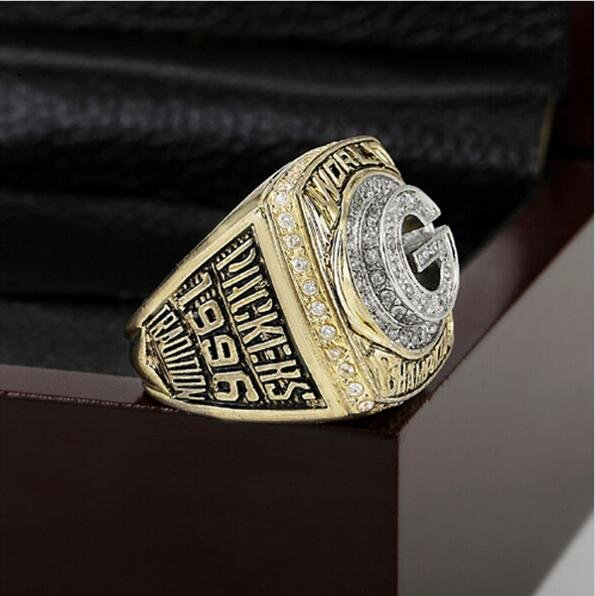 1996 Green Bay Packers Super Bowl Championship Ring Size 11 With High Quality Wooden Box