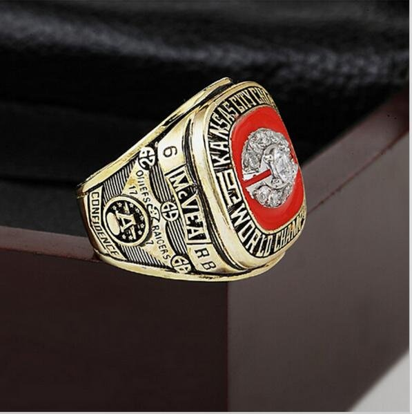 1969 Kansas City Chiefs Super Bowl  Championship Ring Size 10 With High Quality Wooden Box