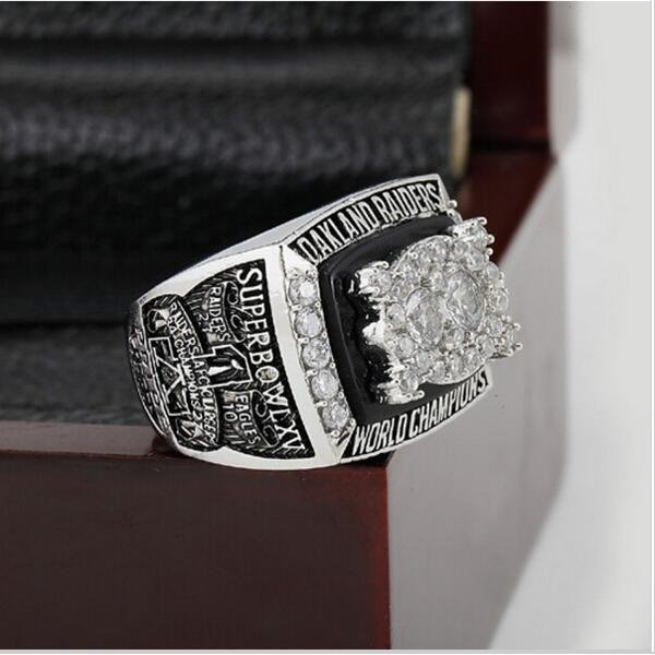 1980 Oakland Raiders Super Bowl Football Championship Ring Size 12  With High Quality Wooden Box