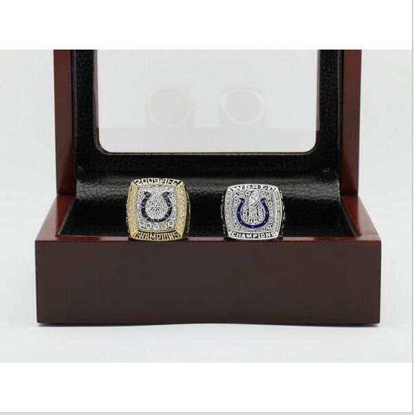 2006 And 2009 INDIANAPOLIS COLTS  Championship Ring  Size 11  With Wooden Box Fan Gift