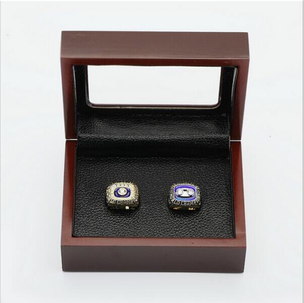 One Set (2PCS) 1972 And 1973 Miami Dolphins  Championship Ring Size 10 With Wooden Box