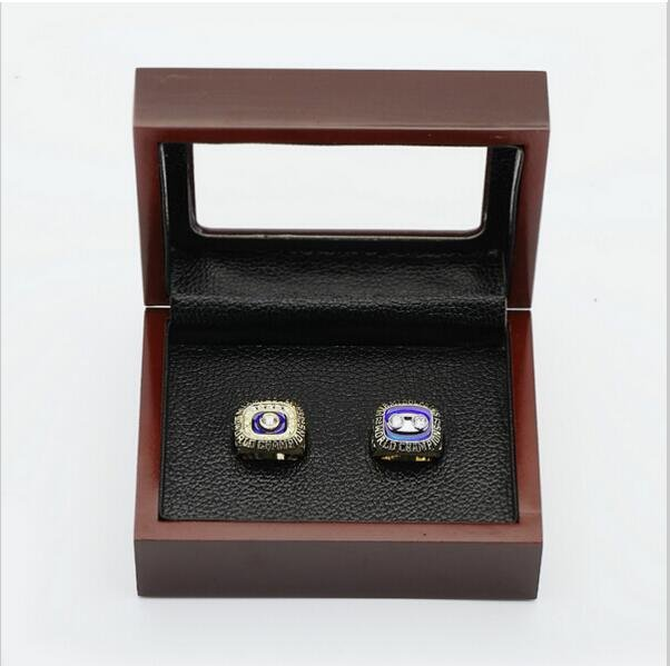 One Set (2PCS) 1972 And 1973 Miami Dolphins  Championship Ring Size 11 With Wooden Box