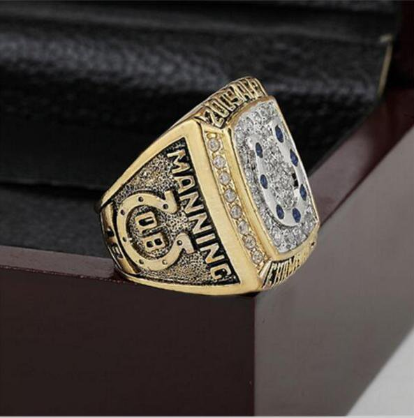 2009 Indianapolis Colts AFC FOOTBALL Championship Ring 13 size with cherry wooden case as a gift