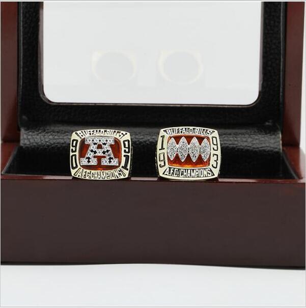 One Set 1991 1993 Buffalo Bills AFC FOOTBALL Championship Ring 10  size