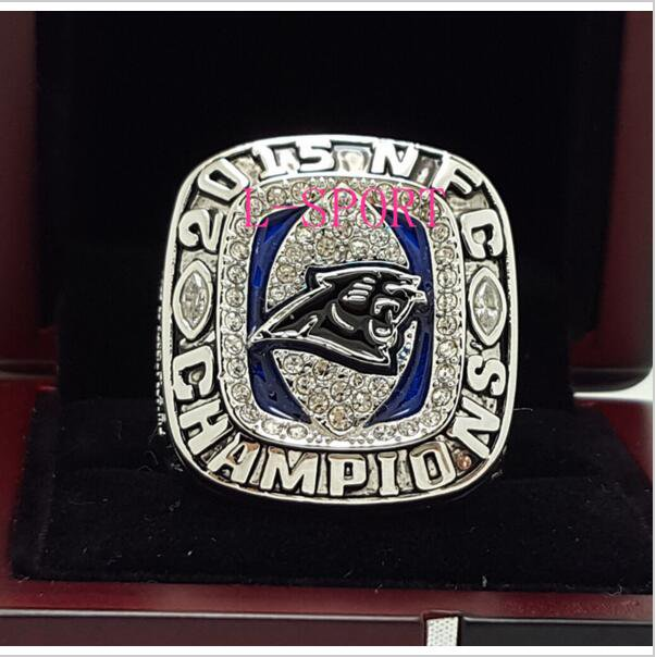 2015 Carolina Panthers NFC FOOTBALL Championship Ring 7-15 Size COPPER SOLID Engraved Inside