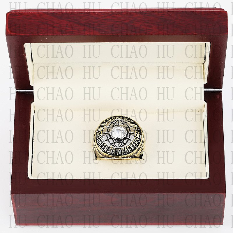 Year 1966 Green Bay Packers Super Bowl Championship Ring 11 Size  With High Quality Wooden Box