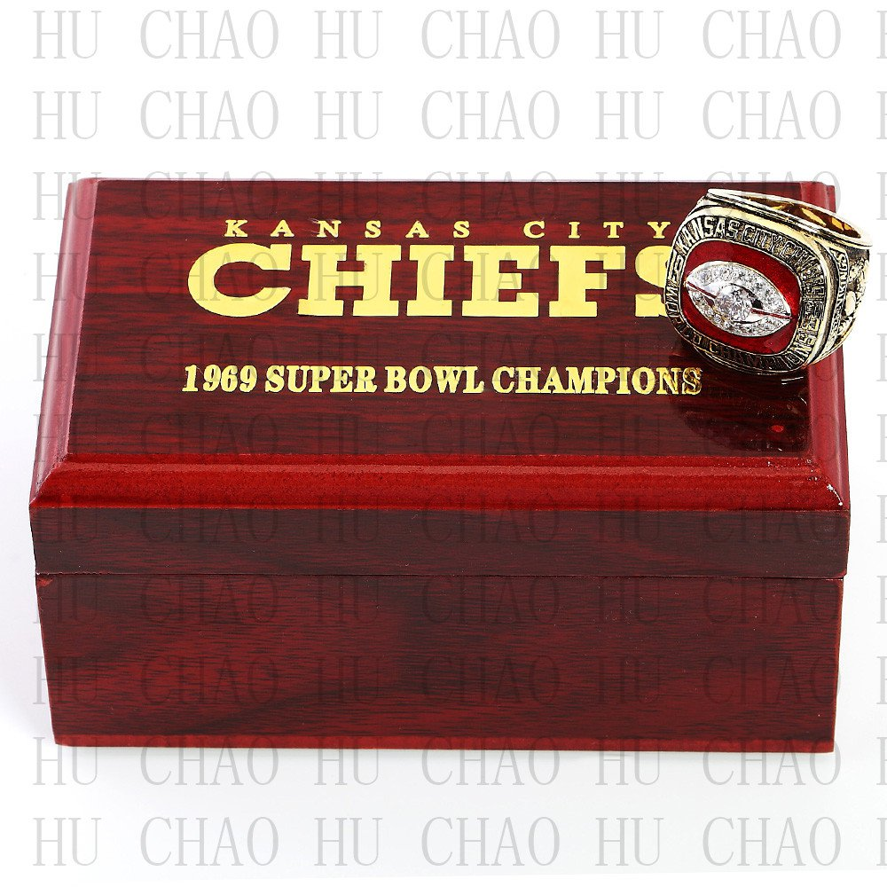 Year 1969 Kansas City Chiefs Super Bowl Championship Ring 10-13 Size DAWSON Fans Gift