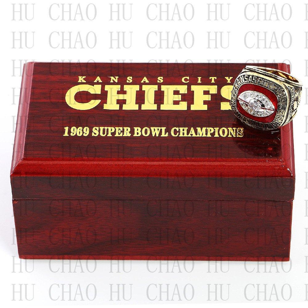 Year 1969 Kansas City Chiefs Super Bowl Championship Ring 10 Size DAWSON Fans Gift