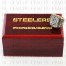 Team Logo wooden case 1978 Pittsburgh Steelers Super Bowl Championship Ring 13  size