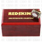 1982 Washington Redskins Super Bowl Championship Ring 12 Size  With High Quality Wooden Box