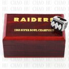 Year 1983 Oakland Raiders Super Bowl Championship Ring 12  Size  With High Quality Wooden Box