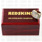 1991 Washington Redskins Super Bowl Championship Ring 10-13 Size  With High Quality Wooden Box