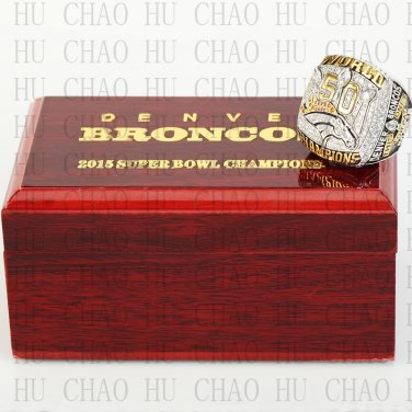 2015 Denver Broncos Super Bowl Championship Ring 10 Size  With High Quality Wooden Box