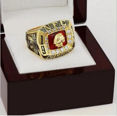 1972 Washington Redskins NFC Football Championship Ring Size 10 With High Quality Wooden Box