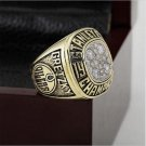 1988 EDMONTON OILERS NHL Hockey Stanely Cup Championship Ring 10-13 size with cherry wooden case
