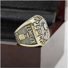 1991 NHL Pittsburgh Penguins Stanley Cup Championship Ring Size 10-13 With High Quality Wooden Box