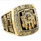 2005 Pittsburgh Steelers NFL Super Bowl FOOTBALL Championship Ring 7-15 Size Copper Engraved Inside