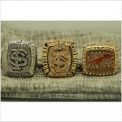 One Set 3 PCS 2013 Florida State Seminoles FSU NCAA National Championship Ring 7-15 Size