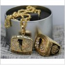 1998 Atlanta Falcons NFC FOOTBALL Championship Necklace and ring Set Copper solid high quality one