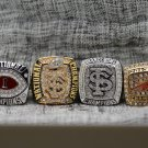 One Set 4 PCS 2013 Florida State Seminoles FSU NCAA National Championship Ring 7-15 Size