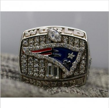 2001 New England Patriots NFL Super Bowl FOOTBALL Championship Ring 7-15 Size