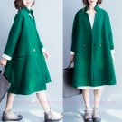 Women Vintage Loose Wool Coat