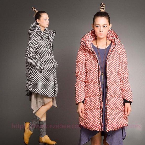Women Winter Fashion Dot Coat
