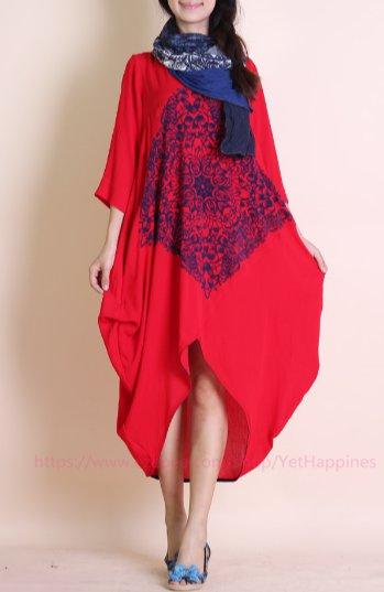 Women Irregular Loose Maxi Dress