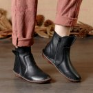 Women Vintage Leather Short Boots