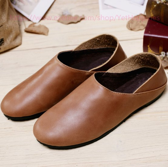 Women Vintage Leather Flat Shoes
