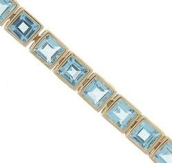 9.50 cttw Blue Topaz Bracelet