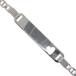Sterling silver baby identification bracelet
