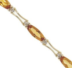 Citrine Diamond 14K Gold