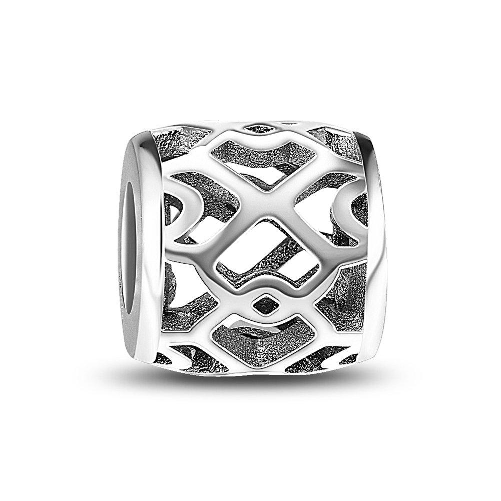 wholesale 6pcs Sterling Silver European Charm