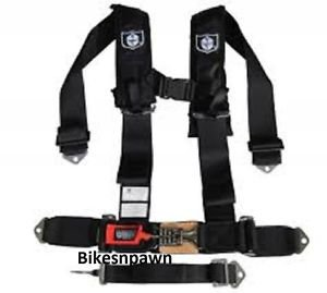 """New Pro Armor Black 5 Point Safety Harness Seat Belt RZR 3"""" Pads (Sewn) A115230"""