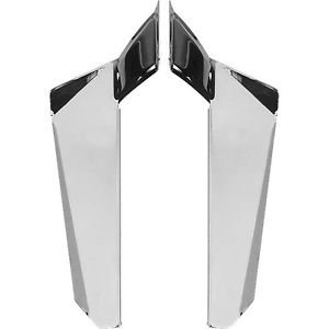 Chrome Lower Deflectors 4 Switchblade Windshield VStar 1300; VTX1300R/S