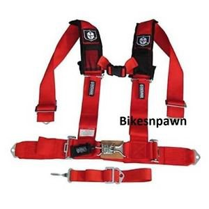 """New Pro Armor Red 5 Point Safety Harness Seat Belt RZR 3"""" Pads A115230RD"""