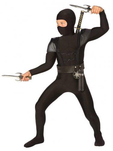 Size 4-6 BLACK FIGHTER NINJA COSTUME FOR CHILDREN  SWWHC803890