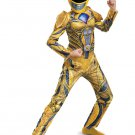 Size 7-8 POWER RANGERS: YELLOW RANGER DELUXE CHILD COSTUME  SWWHC883185