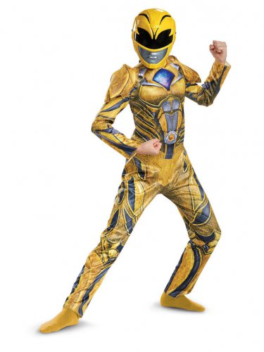 Size 10-12 POWER RANGERS: YELLOW RANGER DELUXE CHILD COSTUME  SWWHC883185