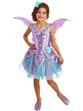 Size 4-6 LAVENDER FAIRY CHILD COSTUME  SWWHC882501