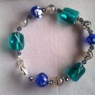 Oceanic glass and semi precious stone bracelet