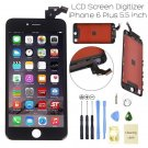 "Apple IPhone 6 Plus 5.5"" Black LCD Digitizer Screen Assembly Replacement Frame USA"