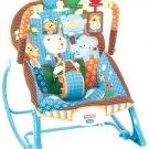 Fisher Price INFANT ROCKER, Portable Adjustable TODDLER ROCKER, Jungle Fun