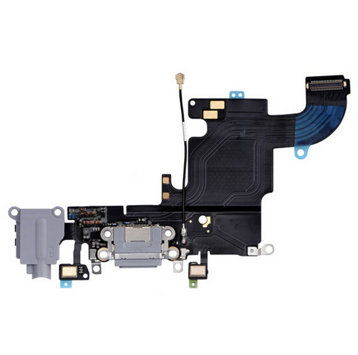 Charging Charger Port Dock Headphone Jack Mic Dark Gray Flex Cable for Iphone 6S