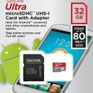 SanDisk Ultra Class 10 32GB 80MB/S microSD SDHC UHS-I U1 TF Flash Memory Card